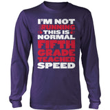 Fifth Grade - Normal Speed - District Long Sleeve / Purple / S - 11