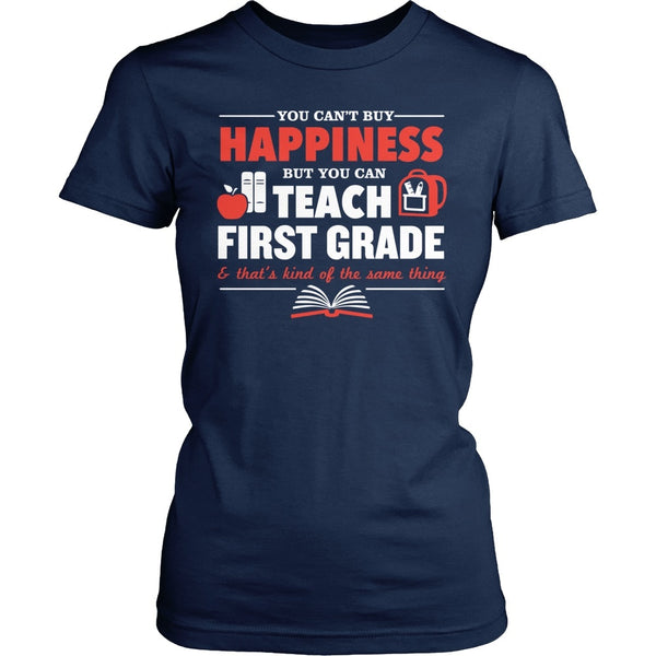First Grade - Happiness - District Made Womens Shirt / Navy / S - 1