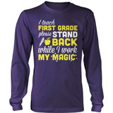 First Grade - Magic - District Long Sleeve / Purple / S - 11