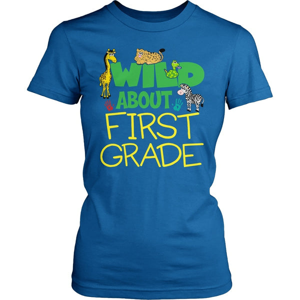 First Grade - Wild - District Made Womens Shirt / Royal / S - 1
