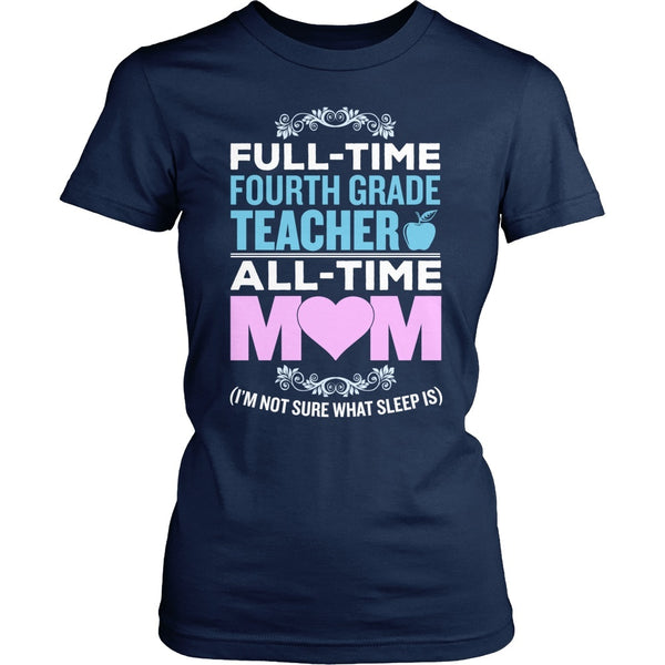 Fourth Grade - Full Time - District Made Womens Shirt / Navy / S - 1