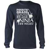 Fourth Grade - Ninja - District Long Sleeve / Navy / S - 10