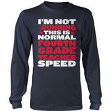 Fourth Grade - Normal Speed - District Long Sleeve / Navy / S - 10