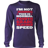 Fourth Grade - Normal Speed - District Long Sleeve / Purple / S - 11