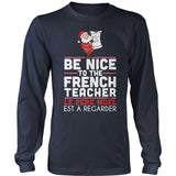 French - Be Nice Holiday - District Long Sleeve / Navy / S - 2
