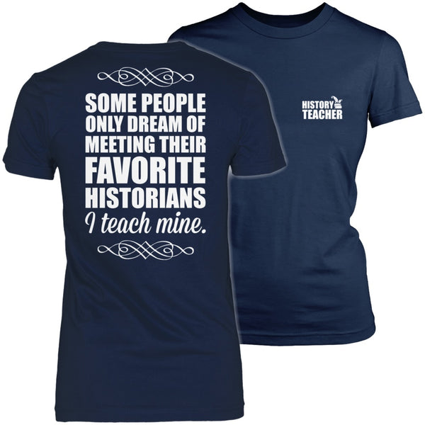History - I Teach Mine - District Made Womens Shirt / Navy / S - 1