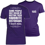 History - I Teach Mine - District Made Womens Shirt / Purple / S - 3