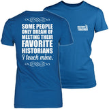 History - I Teach Mine - District Made Womens Shirt / Royal / S - 4