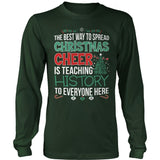 History Teacher - Christmas Cheer - District Long Sleeve / Dark Green / S - 9