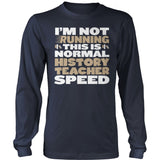 History Teacher - Normal Speed - District Long Sleeve / Navy / S - 10