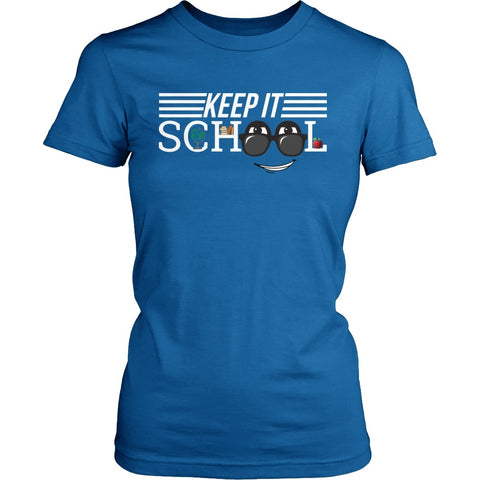 Keep It School - Logo v1 - District Made Womens Shirt / Royal / S - 1