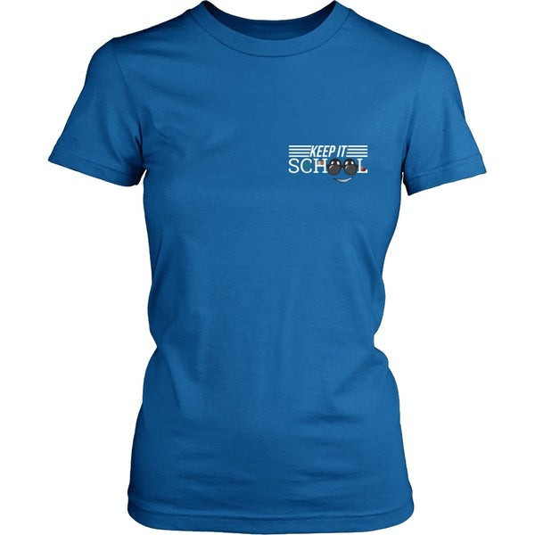 Keep It School - Logo v2 - District Made Womens Shirt / Royal / S - 1