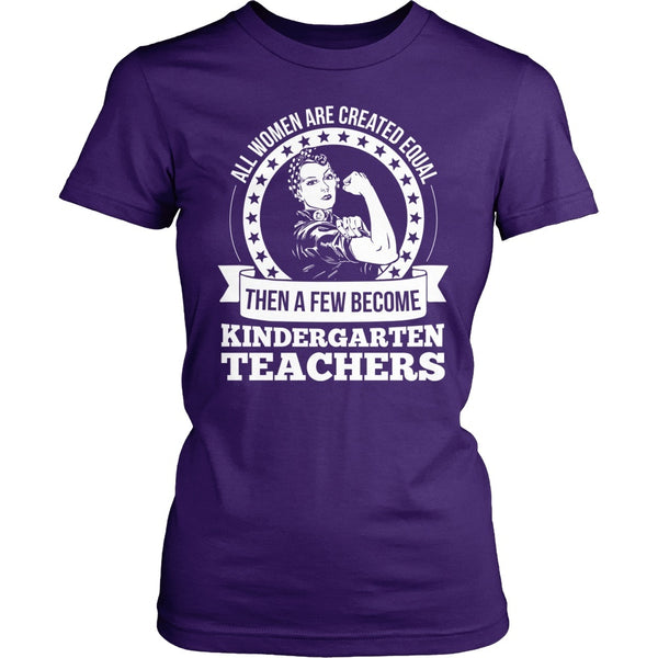 Kindergarten - Created Equal - District Made Womens Shirt / Purple / S - 1