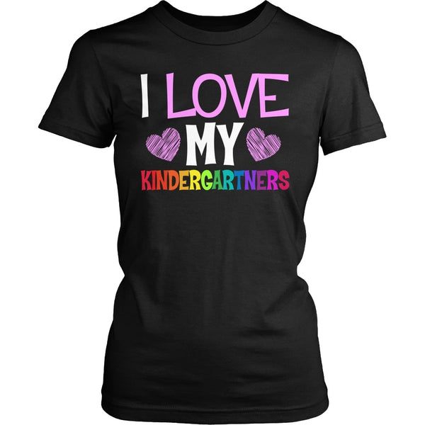Kindergarten - I Love My - District Made Womens Shirt / Black / S - 1
