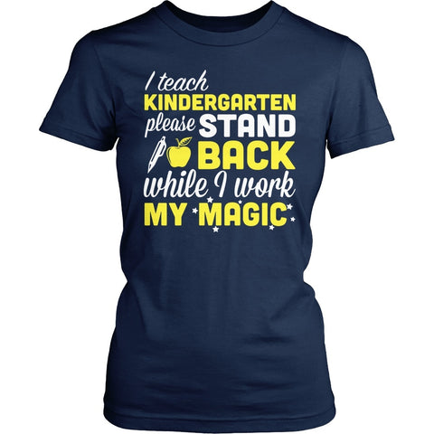 Kindergarten - Magic - District Made Womens Shirt / Navy / S - 1