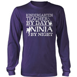 Kindergarten - Teacher By Day - District Long Sleeve / Purple / S - 11