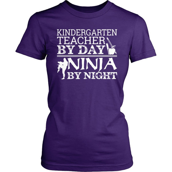 Kindergarten - Teacher By Day - District Made Womens Shirt / Purple / S - 1