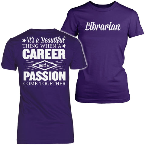 Librarian - Beautiful Thing - District Made Womens Shirt / Purple / S - 1