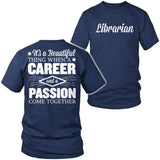 Librarian - Beautiful Thing - District Unisex Shirt / Navy / S - 5