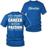 Librarian - Beautiful Thing - District Unisex Shirt / Royal Blue / S - 8