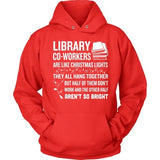Librarian - Christmas Co-workers - Hoodie / Red / S - 2
