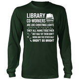 Librarian - Christmas Co-workers - District Long Sleeve / Dark Green / S - 4