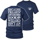 Librarian - Job Title - District Unisex Shirt / Navy / S - 5