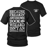 Librarian - Job Title - District Unisex Shirt / Black / S - 6