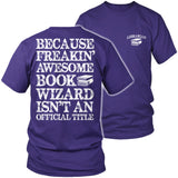 Librarian - Job Title - District Unisex Shirt / Purple / S - 7