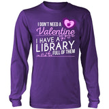 Librarian - Library Full of Valentines - District Long Sleeve / Purple / S - 1