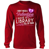 Librarian - Library Full of Valentines - District Long Sleeve / Red / S - 7
