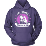 Librarian - Not For The Weak - Hoodie / Purple / S - 12