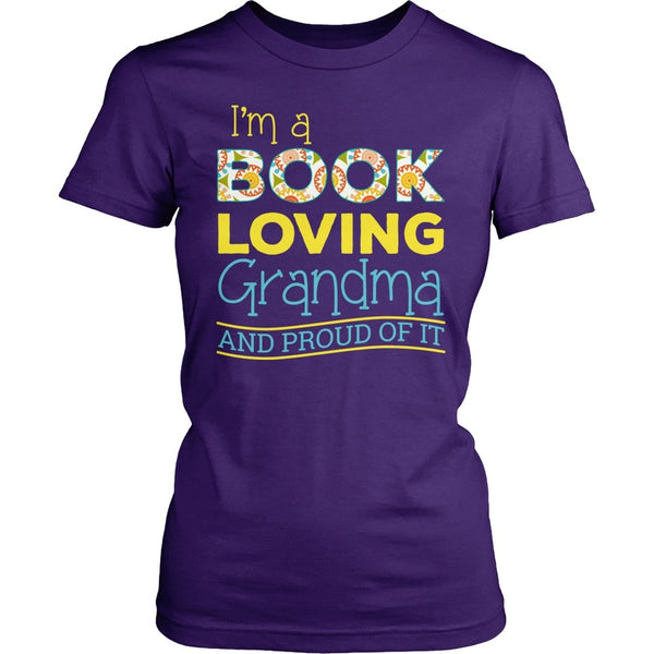 Librarian - Proud Grandma - District Made Womens Shirt / Purple / S - 1