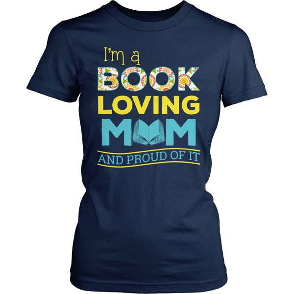 Librarian - Proud Mom - District Made Womens Shirt / Navy / S - 1