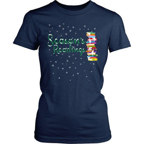 Librarian - Seasons Readings - District Made Womens Shirt / Navy / S - 1
