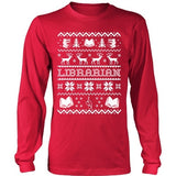 Librarian - Ugly Sweater - District Long Sleeve / Red / S - 2