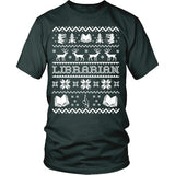 Librarian - Ugly Sweater - District Unisex Shirt / Dark Green / S - 6