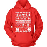Librarian - Ugly Sweater - Hoodie / Red / S - 7