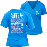 Lunch Lady - 8th Day - District Womens V-Neck / Royal Blue / S - 28
