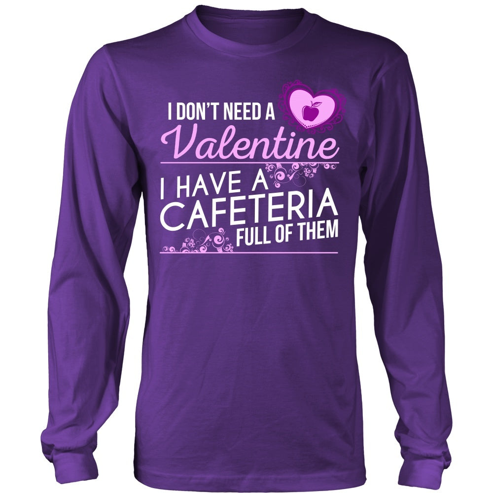 14f12cf9 Lunch Lady - Cafeteria Full of Valentines - District Long Sleeve / Purple /  S -
