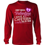 Lunch Lady - Cafeteria Full of Valentines - District Long Sleeve / Red / S - 7