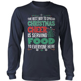 Lunch Lady - Christmas Cheer - District Long Sleeve / Navy / S - 10