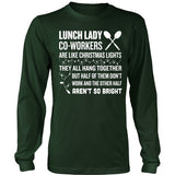 Lunch Lady - Christmas Co-workers - District Long Sleeve / Dark Green / S - 4