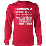 Lunch Lady - Christmas Co-workers - District Long Sleeve / Red / S - 5