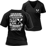 Lunch Lady - Forever - District Womens V-Neck / Black / S - 36