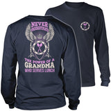 Lunch Lady - Never Underestimate - District Long Sleeve / Navy / S - 10