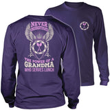 Lunch Lady - Never Underestimate - District Long Sleeve / Purple / S - 11