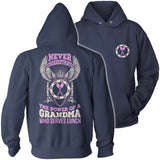 Lunch Lady - Never Underestimate - Hoodie / Navy / S - 13