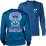 Lunch Lady - Never Underestimate - District Long Sleeve / Royal Blue / S - 30