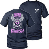 Lunch Lady - Never Underestimate - District Unisex Shirt / Navy / S - 32
